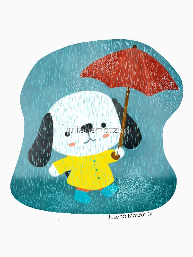 Dog in a Raincoat by julianamotzko