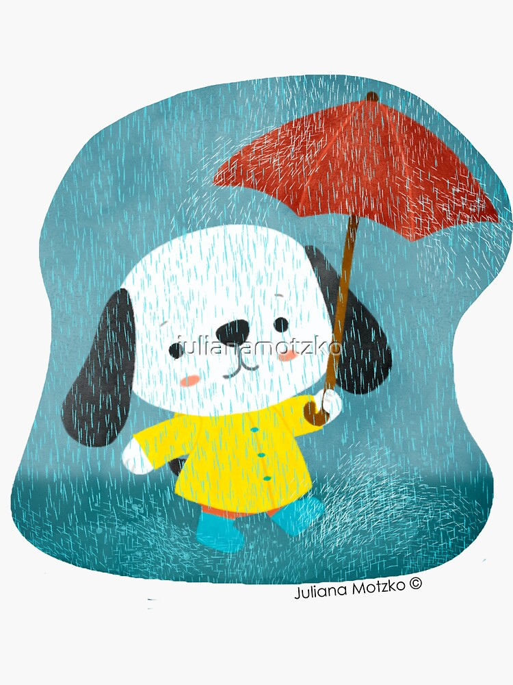 Dog in a Raincoat by julianamotzko