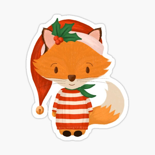 Foxy Christmas Gift For Her | Fox Gift For Him Sticker