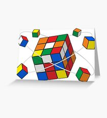 Rubik's cube Greeting Card