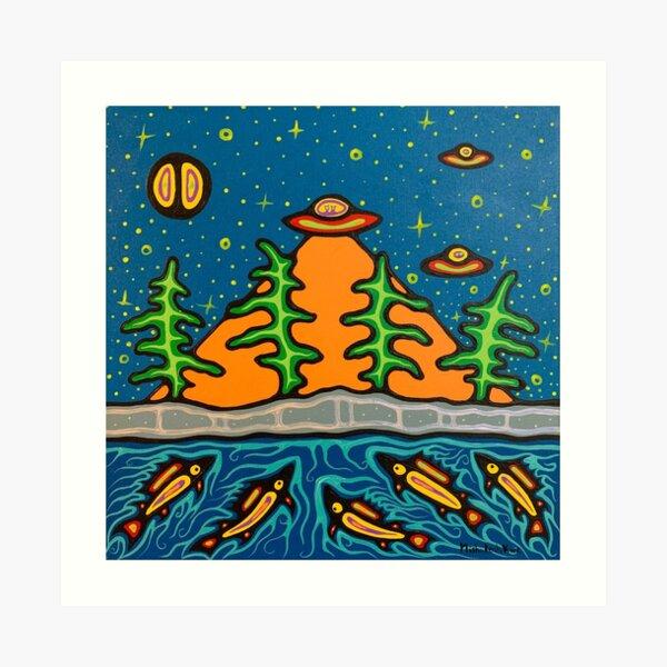 aliens and fish Art Print