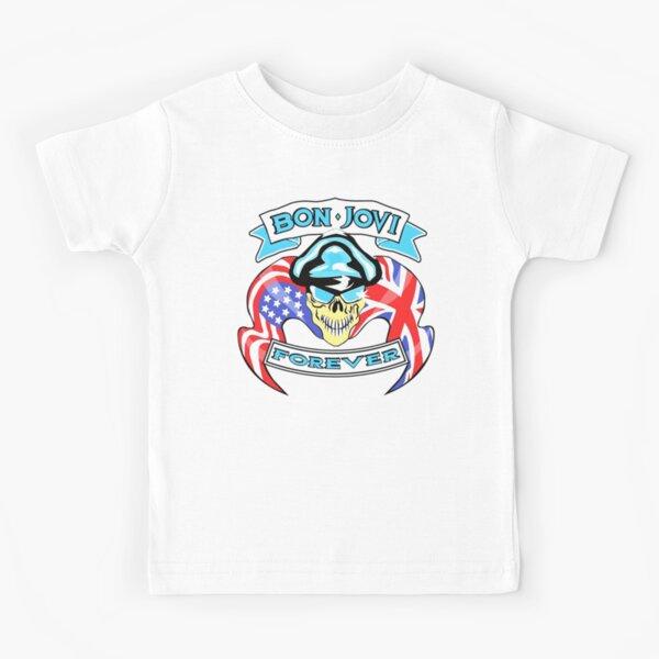 Enfants//kid//Teenage White T-shirt Bon Jovi 4 Rock Fun thé unisexe manches courtes//manches longues