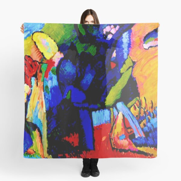 """Improvisation 4"" |  Wassily Kandinsky Abstract Art Scarf"