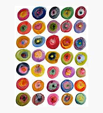 Color Rings Photographic Print