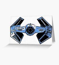 Star Wars Tie Fighter Advanced X1 Greeting Card