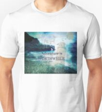 Travel Adventure quote by  Aesop, fantasy beach photo Unisex T-Shirt