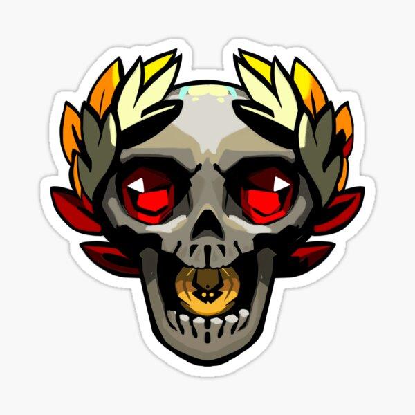 Cráneo del juego Hades Pegatina