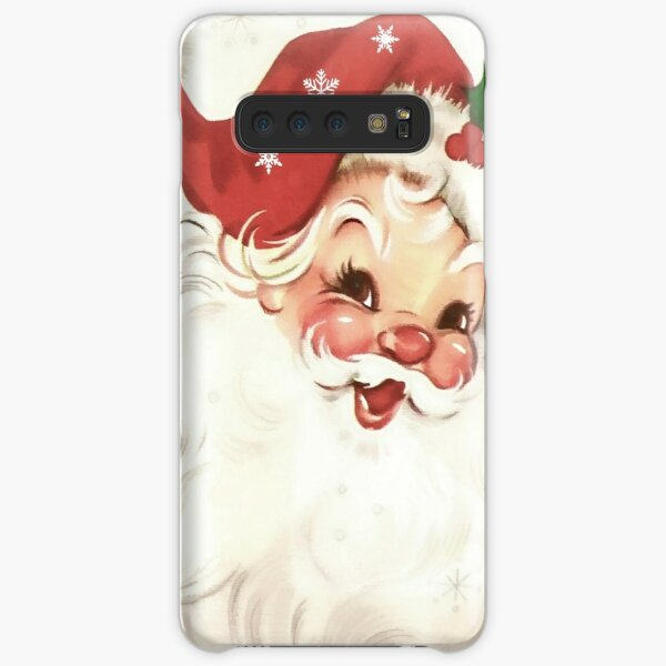 red retro vintage santa Samsung Galaxy Snap Case