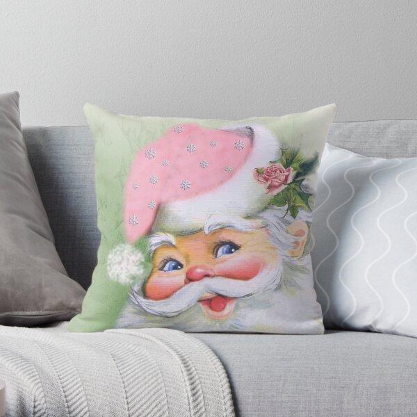 Smiling retro Santa Throw Pillow
