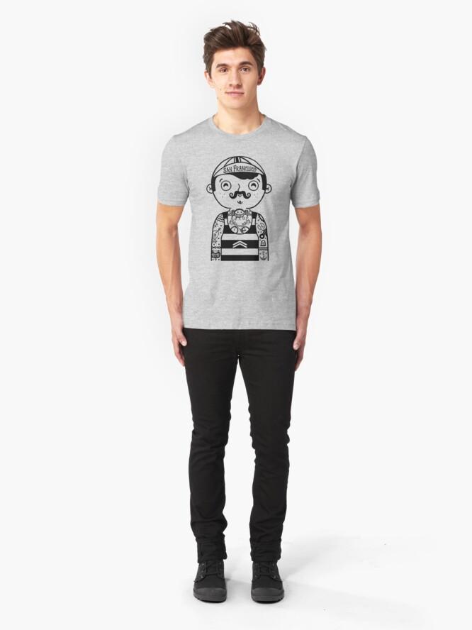 Alternate view of San Francisco Bicyclist Slim Fit T-Shirt