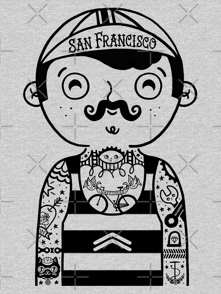San Francisco Bicyclist by abamber