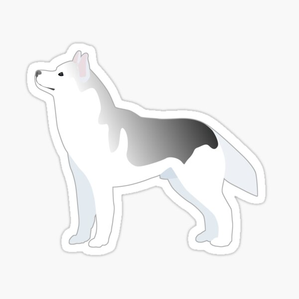Siberian Husky Basic Breed Illustration Silhouette Sticker