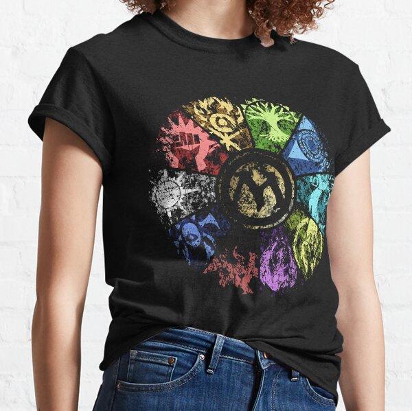 MTG   Rueda de gremio descolorida Camiseta clásica