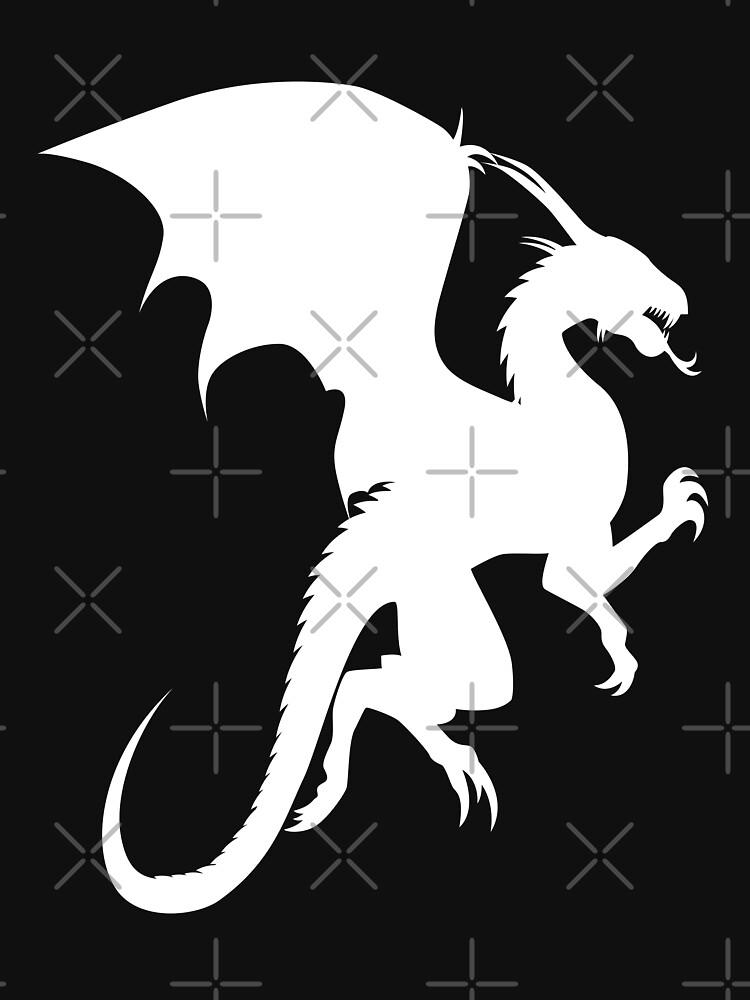 Flying Dragon Shadow White by benayache