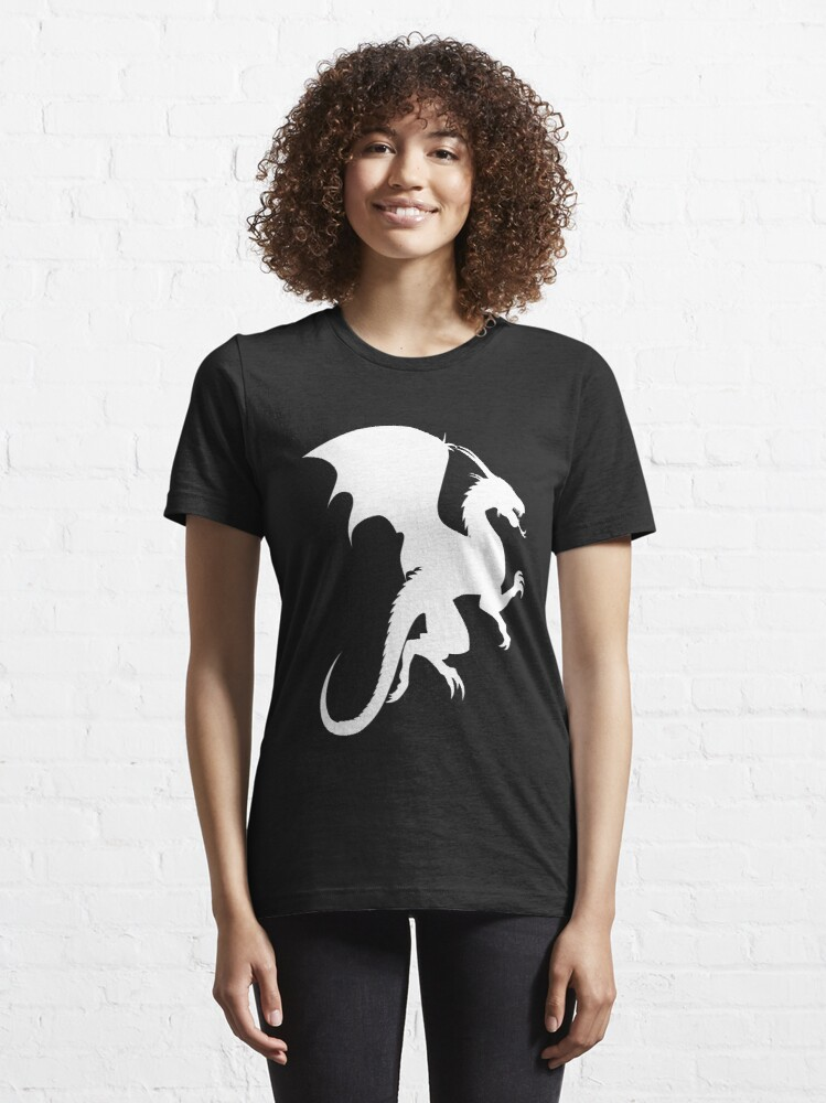 Alternate view of Flying Dragon Shadow White Essential T-Shirt