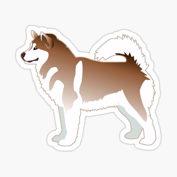 Alaskan Malamute Red Basic Breed Silhouette Design Sticker