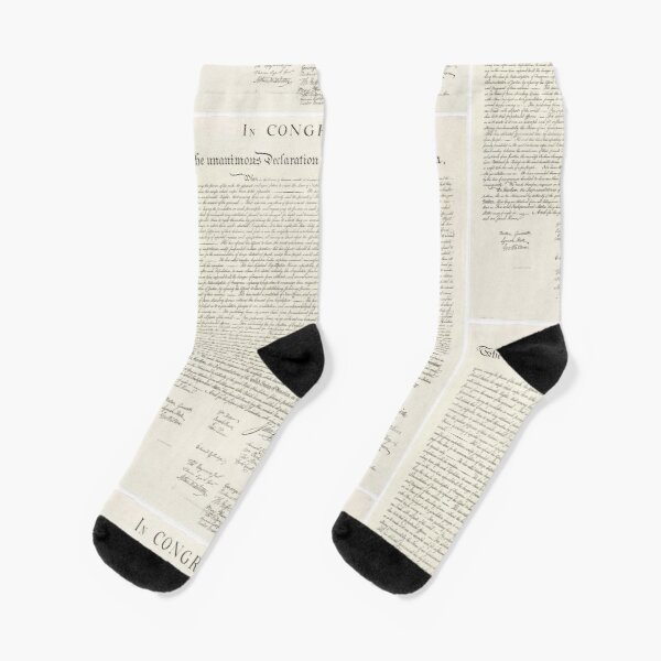 Declaration of Independence Socks