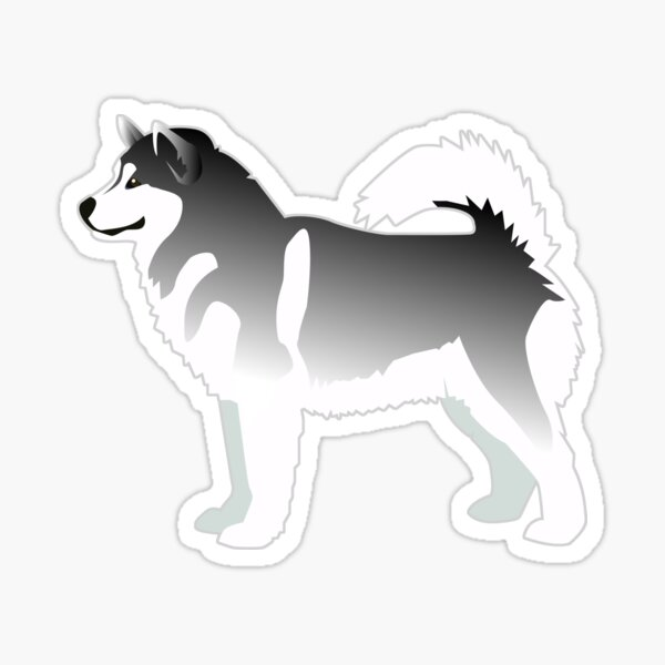 Alaskan Malamute Black Basic Breed Silhouette Design Sticker