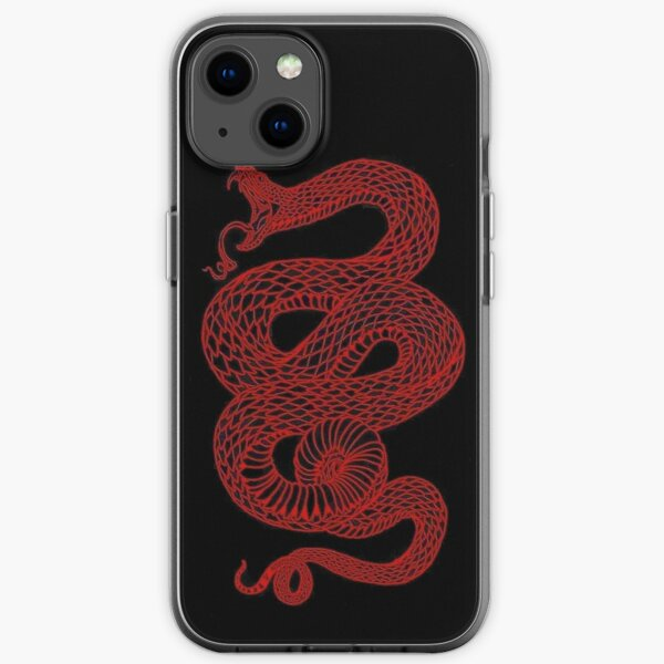 Aesthetic red snake iPhone Soft Case