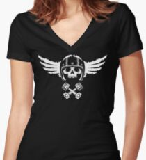 Biker Spirit Women's Fitted V-Neck T-Shirt