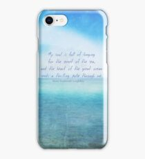 Sea ocean quote by Henry Wadsworth Longfellow iPhone Case/Skin