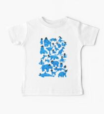 Blue Animals, Black Hats Baby Tee
