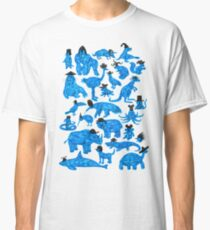 Blue Animals, Black Hats Classic T-Shirt