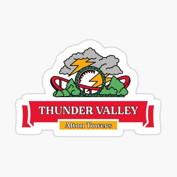 Thunder Valley Alton Towers Thunder Looper Area Badge Sticker