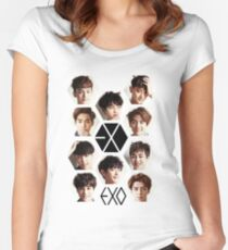 EXO - Group Hex Women's Fitted Scoop T-Shirt