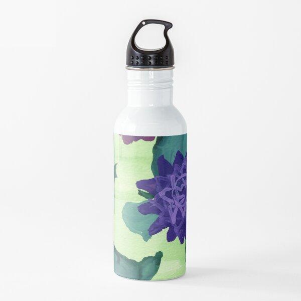 Purple flowers Water Bottle