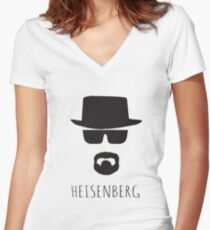 Heisenberg 'Walter White' Women's Fitted V-Neck T-Shirt