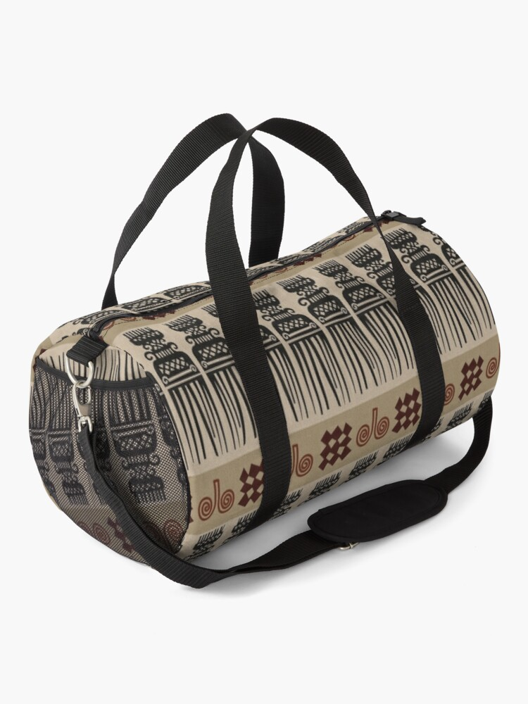 Alternate view of African Fabric Duffle Bag