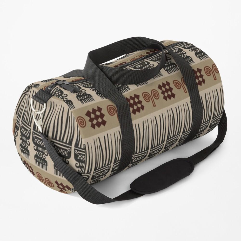 African Fabric Duffle Bag