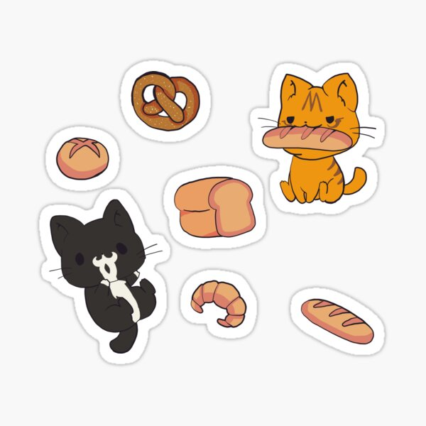 Pastry Cats Sticker