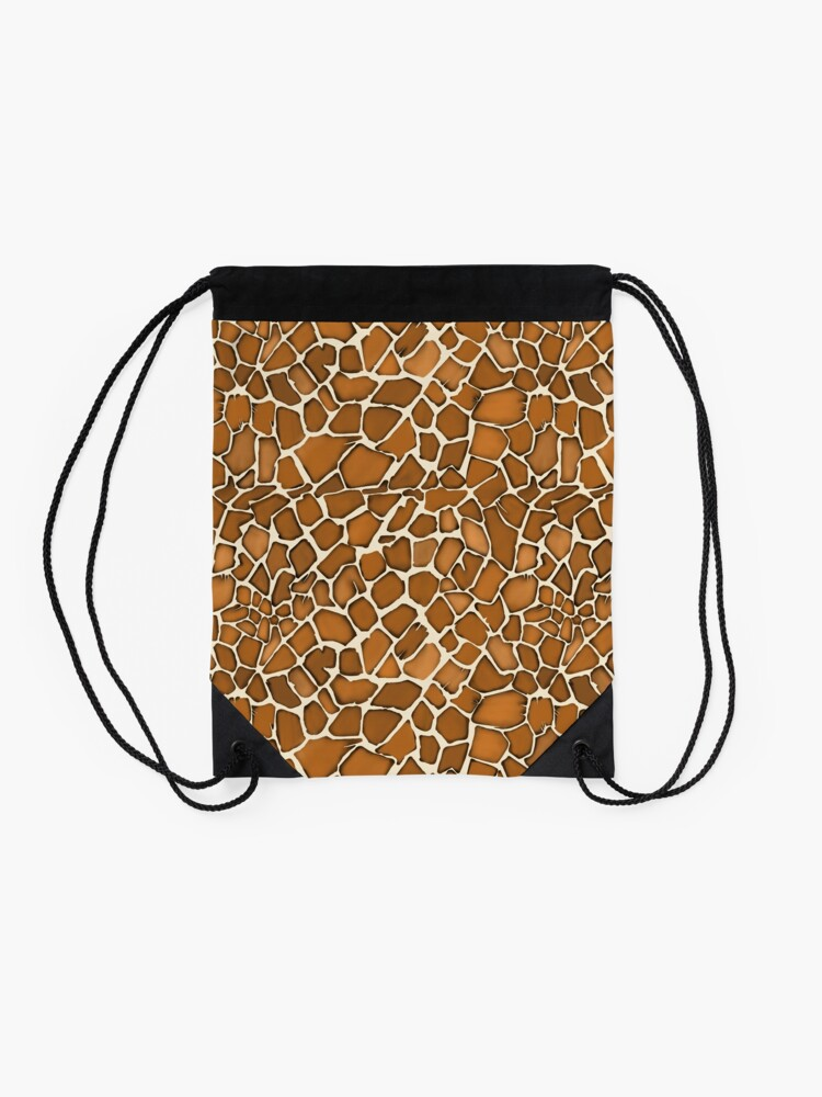 Alternate view of Giraffe Pattern Animal Print Drawstring Bag