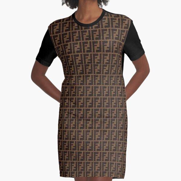 Fendi Collage Graphic T-Shirt Dress