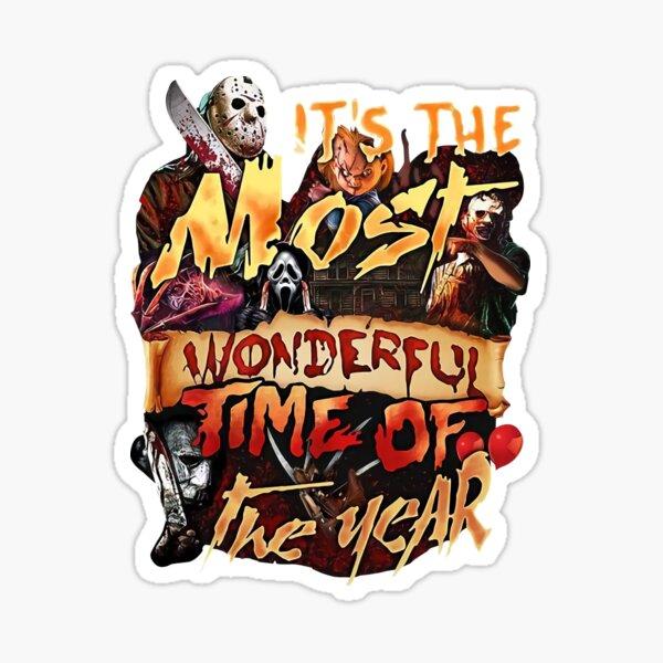Horror Mashups: Wonderful Time Of The Year Sticker