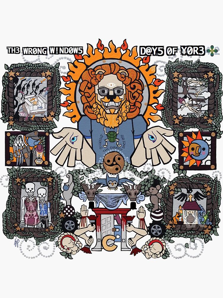 "The Wrong Windows ""Days of Yore"" Vinyl Cover Painting ""The Lion of Los Feliz"" by Jennifer J. Jelenski by billyzduke"