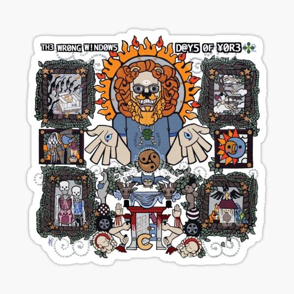 "The Wrong Windows ""Days of Yore"" Vinyl Cover Painting ""The Lion of Los Feliz"" by Jennifer J. Jelenski Sticker"