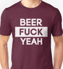 Beer Fuck Yeah | FTS [Wht] Unisex T-Shirt