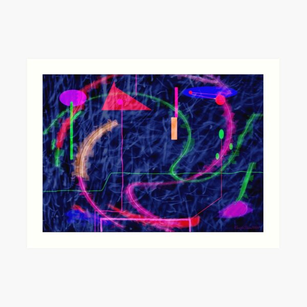 Kandinsky, fuzzy logic and chaos theory Art Print