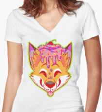 Cupcake Fox Women's Fitted V-Neck T-Shirt