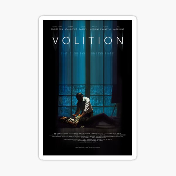 VOLITION FESTIVAL POSTER (vertical) Sticker