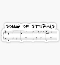 Legend Of Zelda - Song Of Storms Sticker