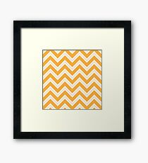 Yellow Chevron Framed Print