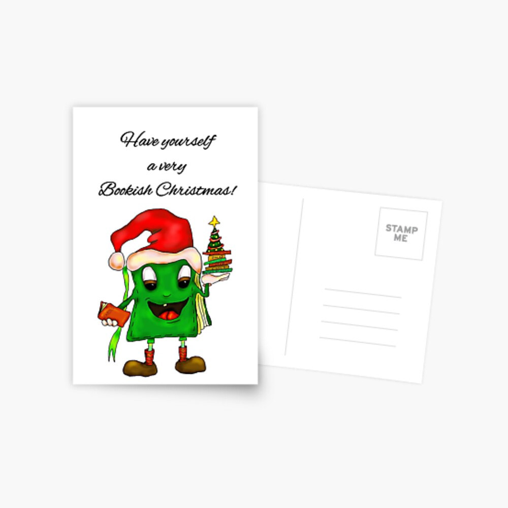 Have Yourself a very Bookish Christmas Greeting Card Postcard