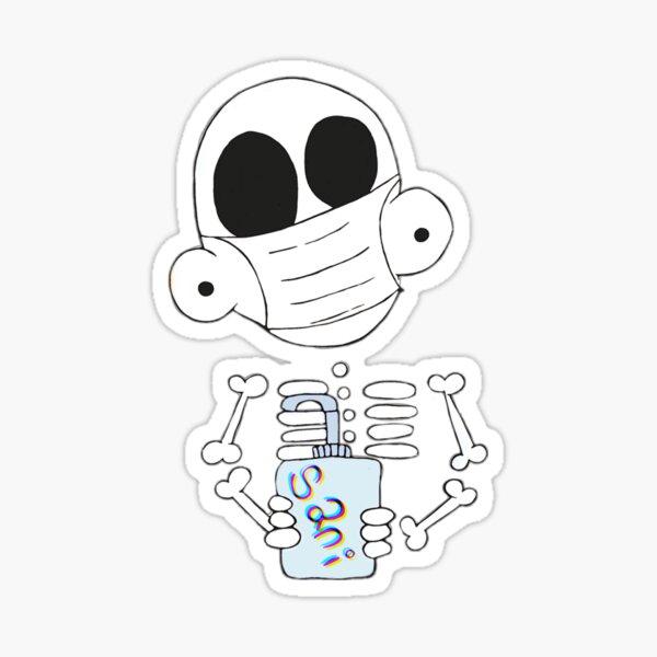 Zanoskull - Mask and Sani Sticker