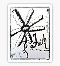 Rachel Doodle Art - Faith Sticker