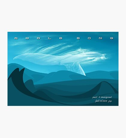 Whale Song part 3 Photographic Print