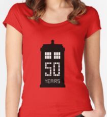 tardis tw Women's Fitted Scoop T-Shirt